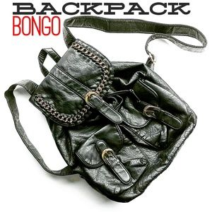 BONGO Bags - Vegan Leather Backpack With Gold Colored Details